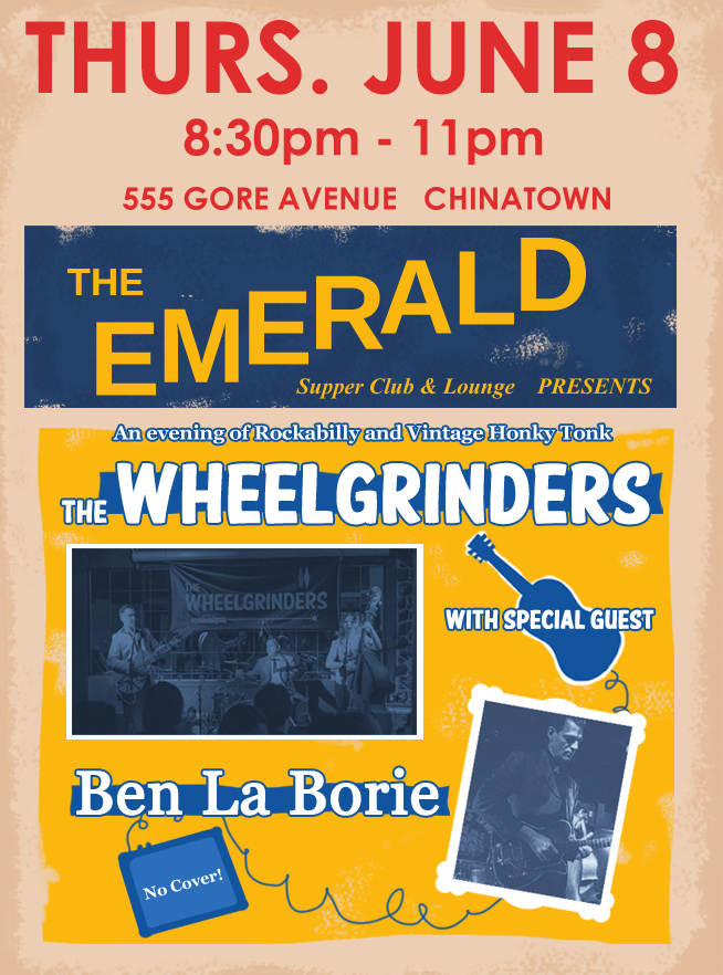 The Wheelgrinders_BenLaBorie Concert Poster_The Emerald June 8 2017_Short
